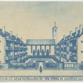 Bouw van 42 woningen voor de Remonstrantsche Stichting a/d Dintelstraat, Uiterwaardenstraat en Rivierenlaan, Amsterdam-Zuid