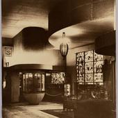 Foto van het interieur van het Nederlands paviljoen in Parijs