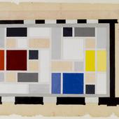 Definitief kleurontwerp voor het plafond van de Grote Feestzaal Aubette