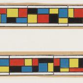 Kleurontwerp glas-in-loodraam