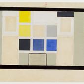 Definitief kleurontwerp voor de wand, kant Place Klebér van de Kleine Zaal Aubette