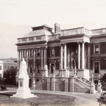 Het parlementsgebouw in Kaapstad