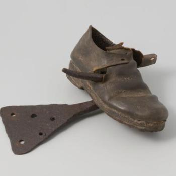 Gered door een schoen