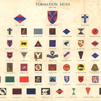 formation signs 8 May 1945