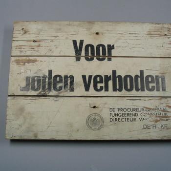 houten verbodsbod, 1940 - 1945