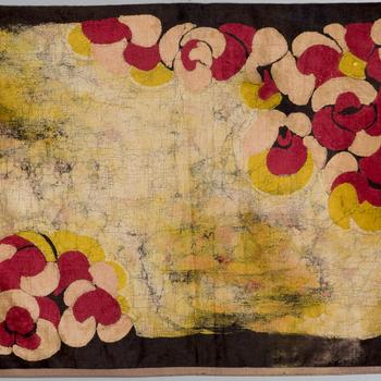 Batikkleed op zijdefluweel, door Agathe Wegerif, 1906-1916