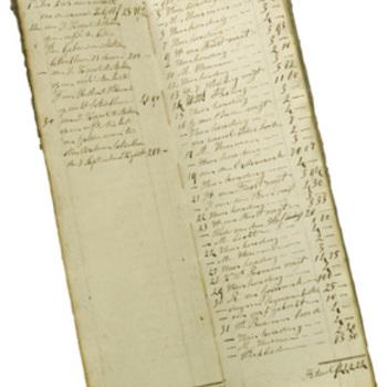 aantekenboek van ontvangsten en uitgaven papiermolen `Waterloo', 1861
