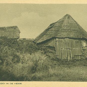 Oude schaapskooi in de heide. Veluwe