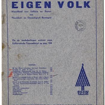 Eigen volk : maandbald voor folklore en dialect : met heraldisch en genealogisch bijvoegsel