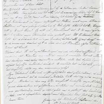 Brief Koning Willem I ( 1772- 1843 )