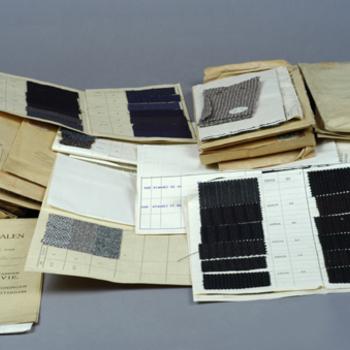diverse herenconfectiestalen op papier, 1928-1934
