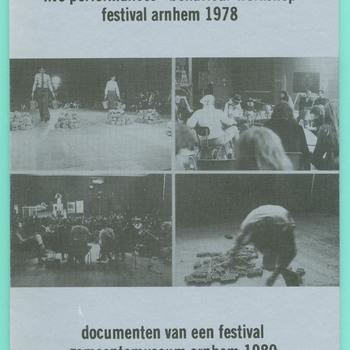 Live performances - Behaviour workshop festival Arnhem 1980 : documenten van een festival Gemeentemuseum Arnhem 1980