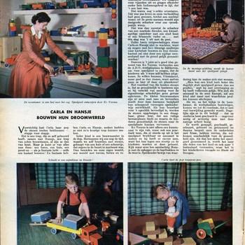 Nederlands speelgoed : Carla en Hansje bouwen hun droomwereld