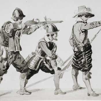 Soldaten uit het leger vanPrins Maurits,