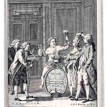 Spotprent op Willem V en de Freule Van Lynden