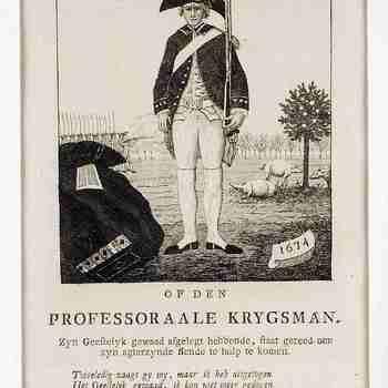Op den Professoraale Krygsman ,1674