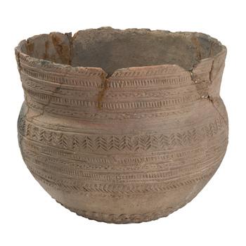 Urn van aardewerk, klokbekercultuur