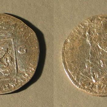 Munt van  zilver, waarde van 1 gulden, 1709
