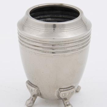 Theeservies van vernikkeld koper, vervaardigd door Metaalwarenfabriek Daalderop te Tiel, ca. 1915