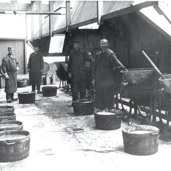 Jamkeuken van Maatschappij De Betuwe, circa 1925