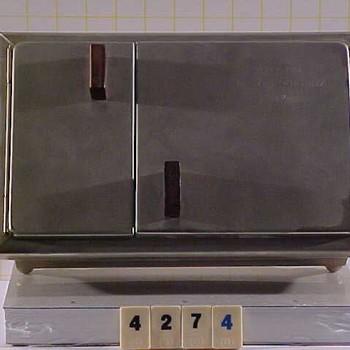 Sigarendoos van metaal, vervaardigd door Metawa te Tiel, 1972