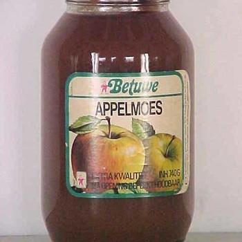 Pot de Betuwe appelmoes afkomstig van Mij. de Betuwe Tiel,  werktitel