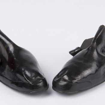 Overschoenen van zwart rubber