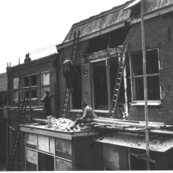 Tiel, Mij De Betuwe, herstel Ooorlogsschade, gebouwen, 1944-1945, handel, nijverheid, industrie