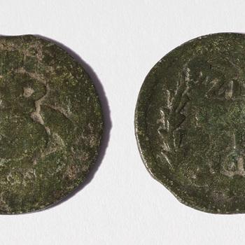 Munt van brons, duit uit Zeeland, 1689