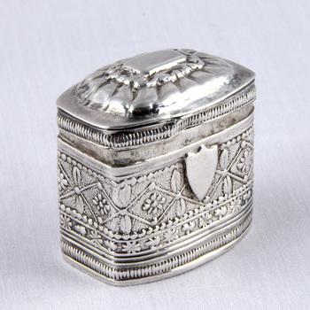 Lodderijndoos van zilver, 1855,  werktitel