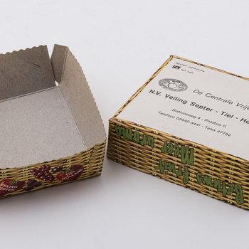 Fruitbakje van karton, afkomstig van Veiling Septer te Tiel, 1960-1970