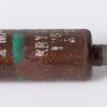 Mortiergranaat uit de tweede wereldoorlog, van Brits fabrikaat, 1940-1945,  werktitel