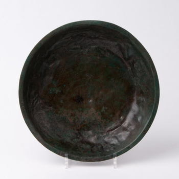 Hanzeschotel van groen bronsblik, 13e eeuw