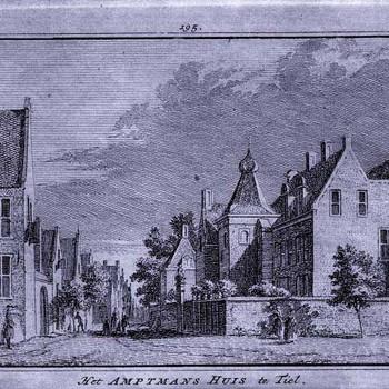 Ets, voorstellende het Ambtmanshuis te Tiel, 18e eeuw,  werktitel