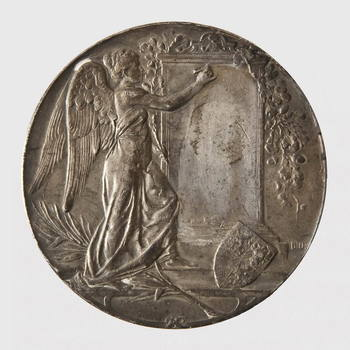 Penning van zilver, relief portret Pr. Hendrik naar links