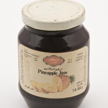 Jampot met pineapple jam. inhoud 454 gram,  werktitel