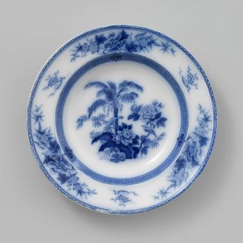 Diep bord met palmboom decor