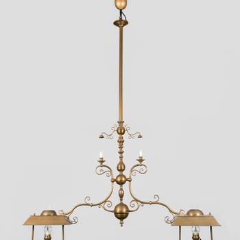 Hanglamp behorend bij biljarttafel