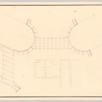 Detailontwerp van een brug bij huis Schaffelaar