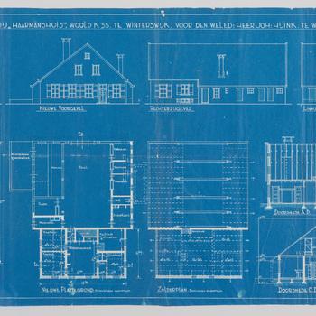 Plan voor de verbouwing van boerderij Haarmanshuis