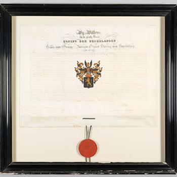 Adelsbrief voor Pieter Bouwens