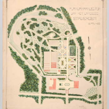 Ontwerp voor de tuin van landgoed Staverden