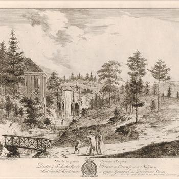 De grote waterval bij kasteel Biljoen