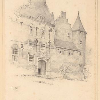 Ingangszijde van kasteel Hernen