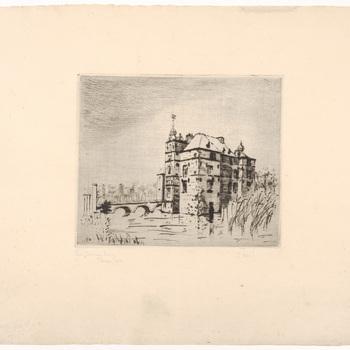 Prent van kasteel Cannenburch