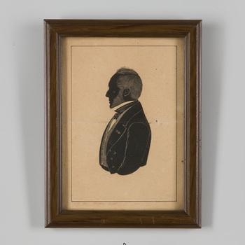 Silhouetportret van Hans Willem van Aylva baron van Pallandt