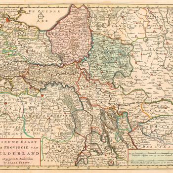 Kaart van de provincie Gelderland