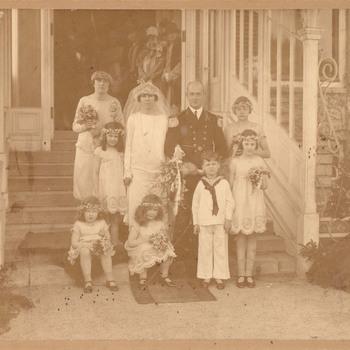 Trouwfoto van het bruidspaar Zimmerman-van Pallandt