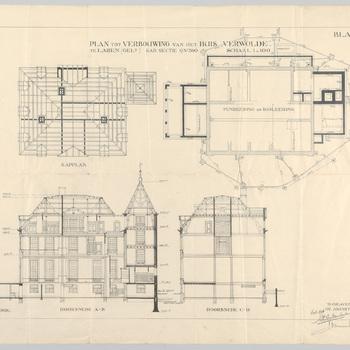Plan tot verbouwing van het huis Verwolde