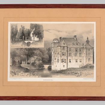 Foto van kasteel Cannenburch en de Rotterdamse kopermolen